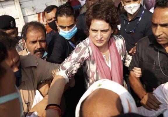 UP पुलिस ने प्रियंका गांधी वाड्रा को आगरा जाने से रोका, करनी थी पुलिस कस्टडी में मरे शख्स के परिवार से मुलाकात