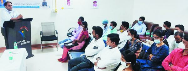 सुयश हॉस्पिटल द्वारा वर्ल्ड स्पाइन डे पर जागरूकता कार्यशाला आयोजित