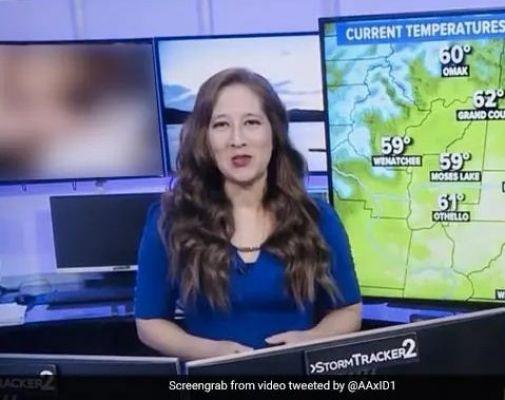 TV पर मौसम का हाल बता रही थी एंकर, अचानक स्क्रीन पर चलने लगा Porn Video और फिर...