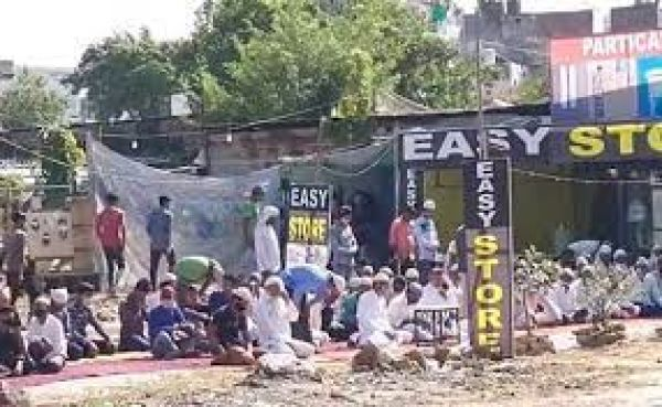गुरुग्राम : नमाज पढ़ रहे लोगों के सामने भीड़ ने लगाए 'जय श्रीराम' के नारे, पहले भी हो चुका है जगह पर विवाद