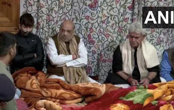 अमित शाह ने श्रीनगर में शहीद इंस्पेक्टरों के परिजनों से मुलाकात, 370 हटने के बाद पहला कश्मीर दौरा