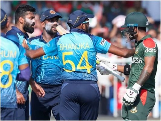 टी20 वर्ल्ड कप : चरित असलांका और भानुका राजपक्षे की पारी की बदौलत श्रीलंका ने बांग्लादेश को 5 विकेट से हराया