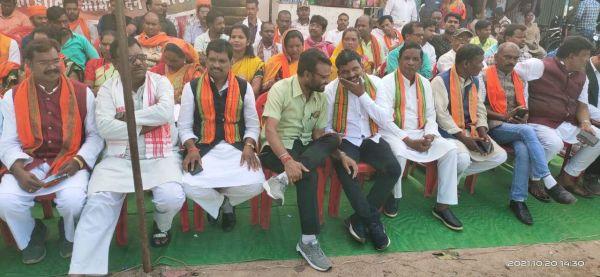 भाजपा ने प्रदेश सरकार के खिलाफ दिया धरना