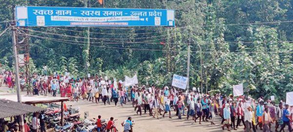 मांगों को ले किसानों ने निकाली रैली राज्यपाल के नाम सौंपा ज्ञापन