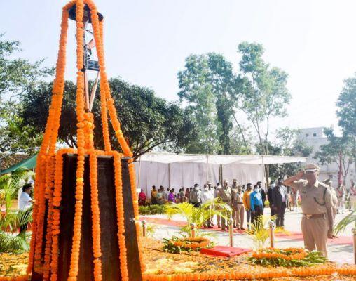 पुलिस स्मृति दिवस पर शहीदों को दी श्रद्धांजलि