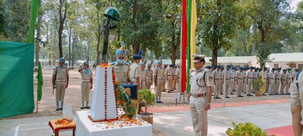 पुलिस स्मृति दिवस पर शहीदों को किया नमन