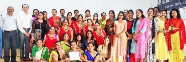 भारती कॉलेज में नवरात्रि उत्सव, विजेता पुरस्कृत