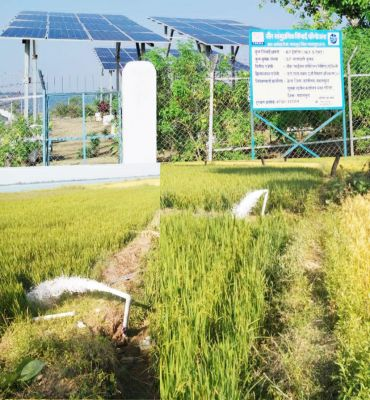 सौर सिंचाई से बदली अछोला के किसानों की बदली तकदीर: क्रेडा के सहयोग से मिला सौर सामुदायिक सिंचाई योजना का लाभ