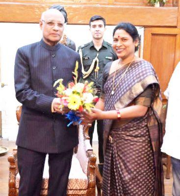 विद्या सिदार ने झारखंड के राज्यपाल से सौजन्य मुलाकात की