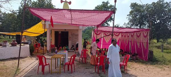 गणेश मंदिर की प्राण प्रतिष्ठा, भंडारा