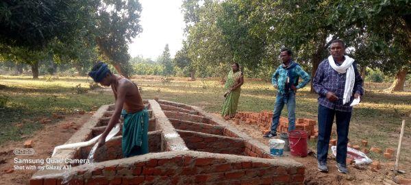नवीन ग्राम पंचायत में गौठान निर्माण होने से ग्रामीणों में हर्ष