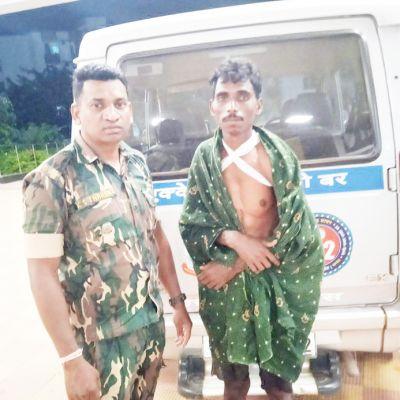 किसान के सीने से गुजरी बैलगाड़ी, पुलिस ने पहुंचाया अस्पताल तक