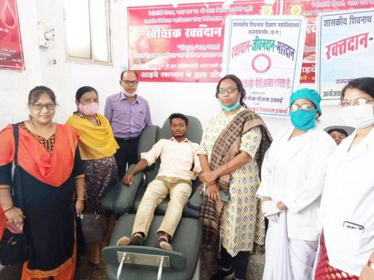 साइंस कॉलेज में 13 छात्रों ने किया रक्तदान