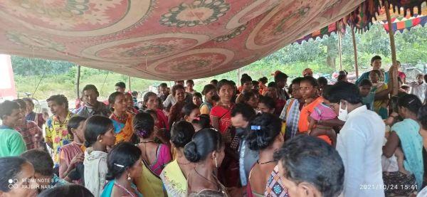 किस्टाराम सुविधा शिविर में सैकड़ों ग्रामीण लाभांवित